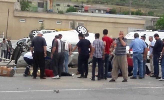 Zincirleme kaza: Biri bebek 8 yaralı!