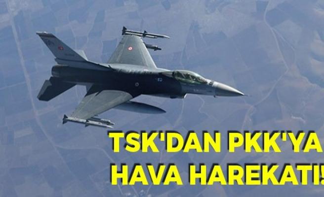TSK, PKK'ya Hava Harekatı