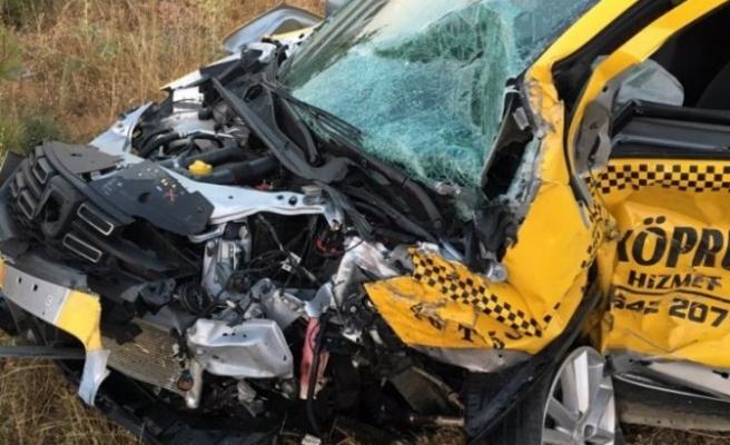 Taksici Muhtar kazada hayatını kaybetti