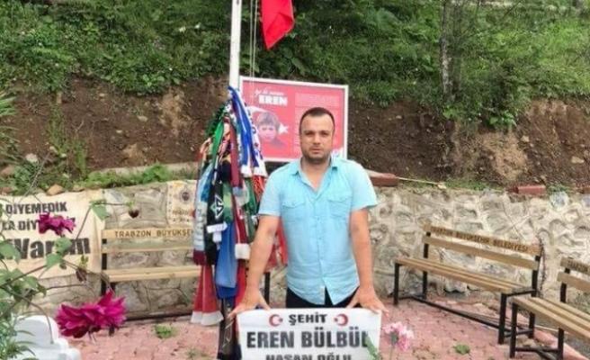 Eren Bülbül'ün mezarını ziyaret etmek için 4 Bin kilometre yol katetti