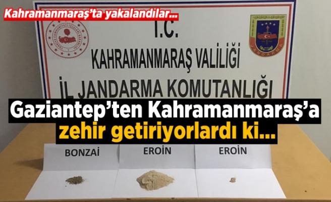 Gaziantep'ten Kahramanmaraş'a zehir getiriyorlardı ki...
