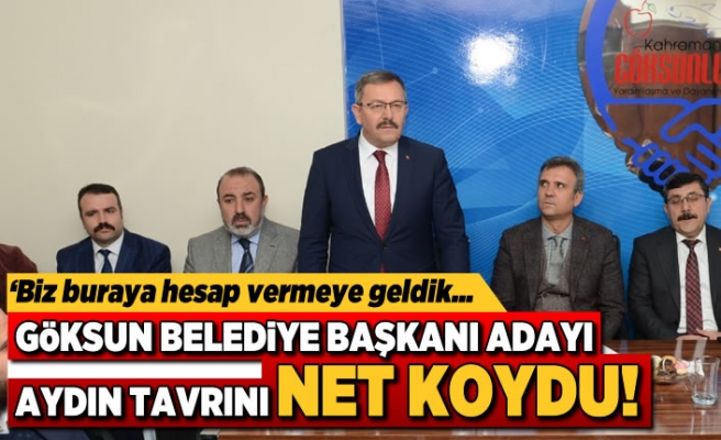 Kahramanmaraş'ta Başkan Aydın: Biz buraya hesap vermeye geldik!