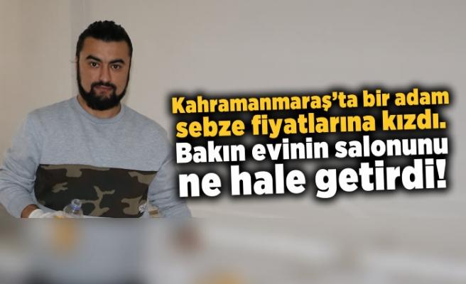 Kahramanmaraş'ta bir adam sebze fiyatlarına kızdı, sonrası ilginç!