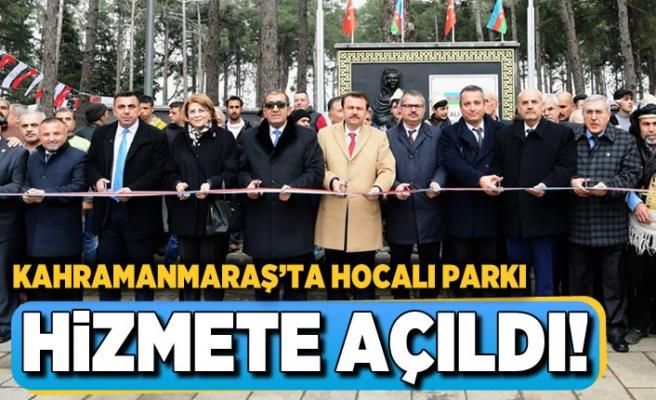 Kahramanmaraş'ta Hocalı Parkı hizmete açıldı!