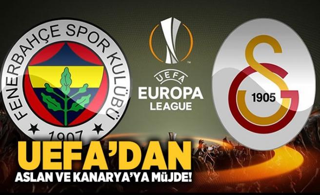 UEFA'dan Aslan ve Kanarya'ya müjde!