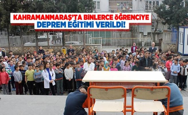 Kahramanmaraş'ta binlerce öğrenciye deprem eğitimi verildi!