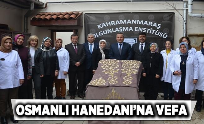 Kahramanmaraş'ta Osmanlı Hanedanı'na vefa