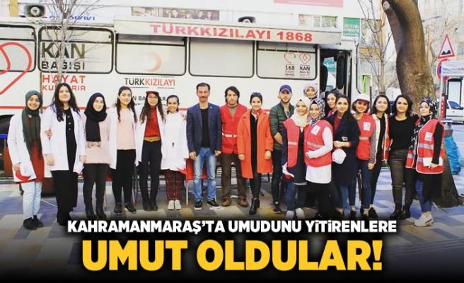Kahramanmaraş'ta umudunu yitirenlere umut oldular!