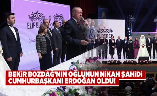 Bekir Bozdağ'nın oğlunun nikah şahidi Cumhurbaşkanı Erdoğan oldu!