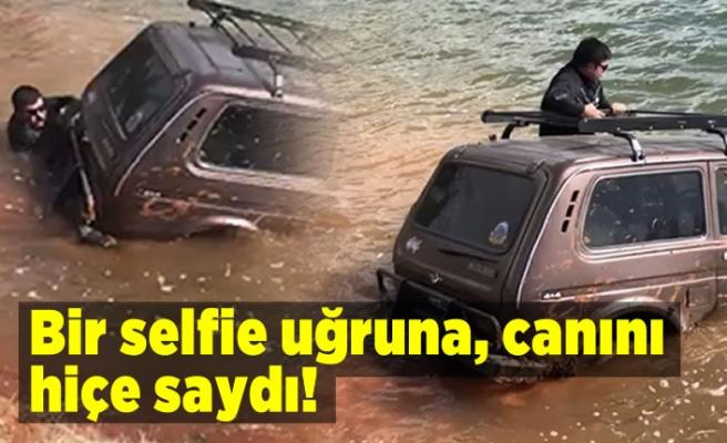 Bir selfie uğruna canını hiçe saydı!