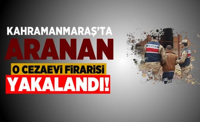 Kahramanmaraş'ta aranan firari jandarmadan kaçamadı!