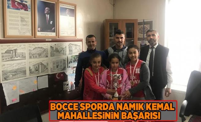 Kahramanmaraş'ta düzenlenen Bocce spor dalında Namık Kemal mahallesinden katılan 3 öğrenci il birincisi oldu.