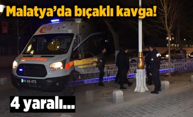 Malatya'da 4 kişi yaralamalı bıçaklı kavga !