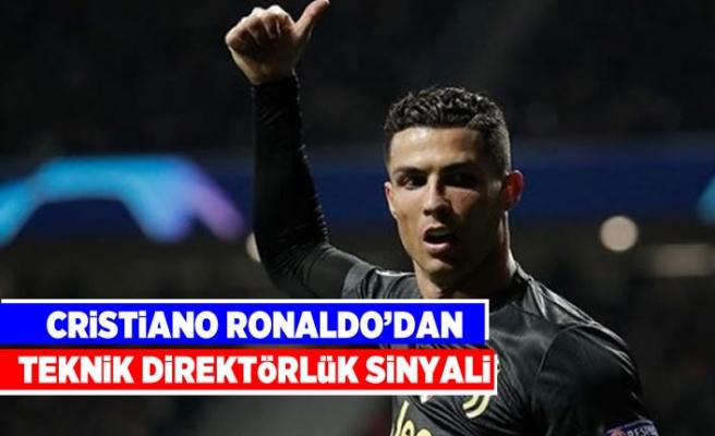 Cristiano Ronalda'dan teknik direktörlük sinyali!