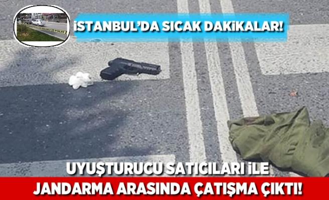 İstanbul'da sıcak dakikalar! Uyuşturucu satıcıları ile jandarma arasında çatışma çıktı!