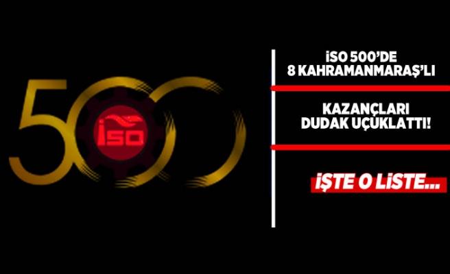 Kahramanmaraşlı o firmalar ISO 500'de