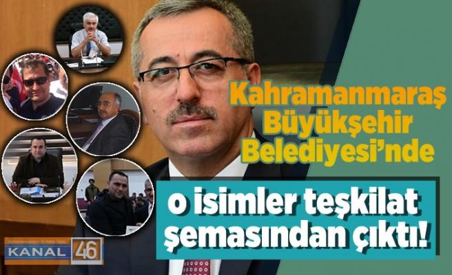 Kahramanmaraş Büyükşehir Belediyesi'nde o isimler teşkilat şemasından çıktı!