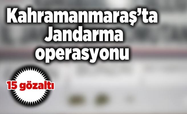 Kahramanmaraş'ta Jandarma operasyonu 15 kişi gözaltına alındı!
