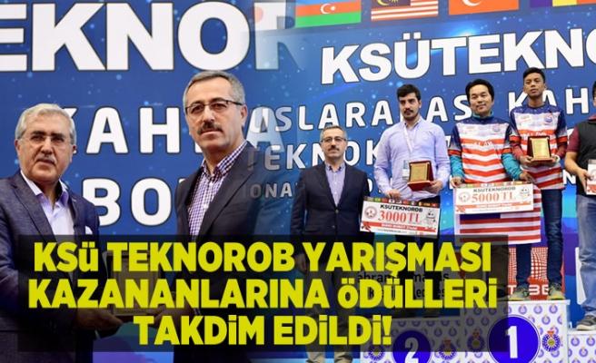 KSÜ TEKNOROB YARIŞMASI KAZANANLARINA ÖDÜLLERİ TAKDİM EDİLDİ!