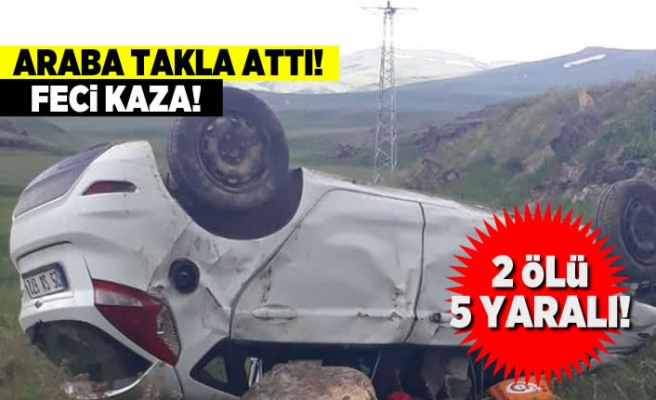Feci kaza! 2 ölü 5 yaralı!