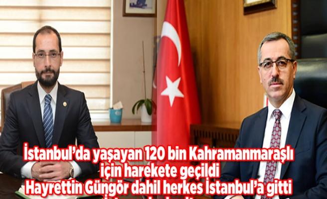 İstanbul'da yaşayan 120 bin Kahramanmaraşlı için harekete geçildi