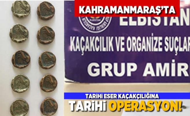 Kahramanmaraş'ta tarihi eser kaçakçılığına tarihi operasyon!