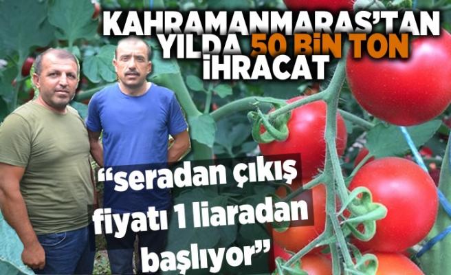 Kahramanmaraş yılda 50 bin ton domates ihracat yapıyor!