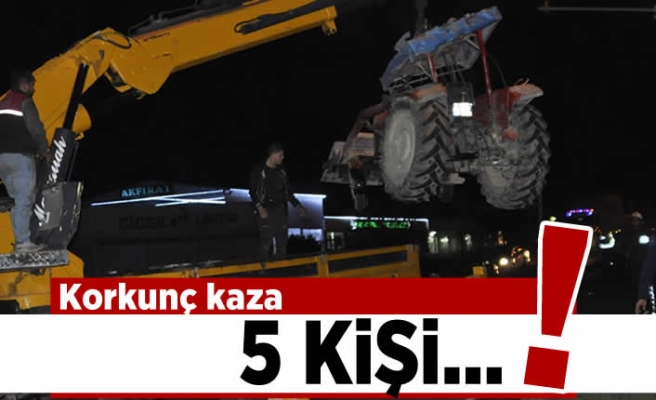 Korkunç kaza! 5 kişi...