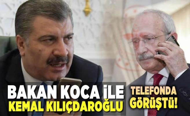 Bakan Koca, Kemal Kılıçdaroğlu ile telefonda görüştü!