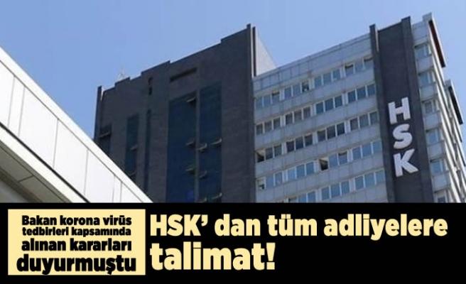 Bakan korona virüs kapsamında alınan tedbirleri duyurmuştu! HSK'dan tüm adliyelere talimat!