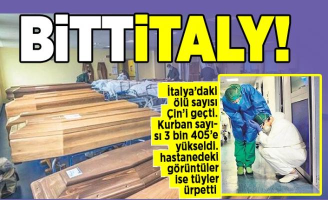 İtalya'daki ölü sayısı Çin'i geçti. Kurban sayısı 3 bin 405'e yükseldi. hastanedeki görüntüler ise tüyler ürpertti!