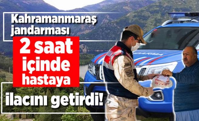 Kahramanmaraş Jandarması 2 saatin içinde Hastaya ilacını getirdi!