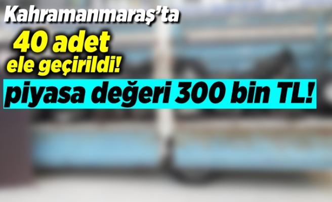Kahramanmaraş'ta 40 adet ele geçirildi, piyasa değeri 300 bin TL!