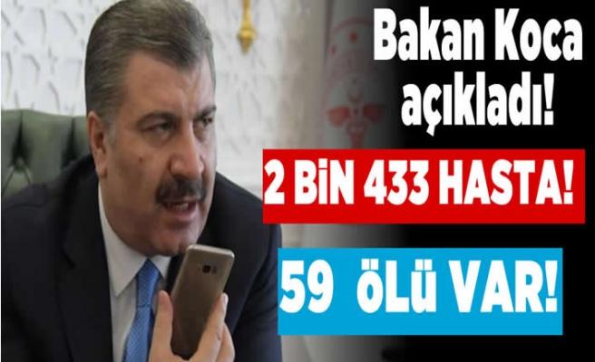 Sağlık Bakanı Açıkladı: ''2 bin 433 hasta! 59 ölü var!''