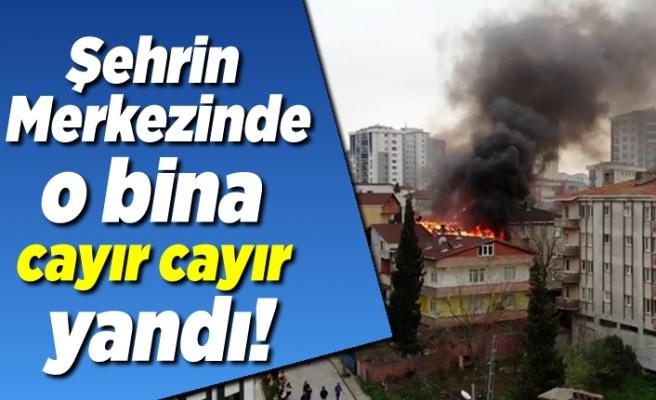 Şehrin merkezinde yangın!