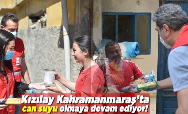Kahramanmaraş Kızılay Şube Başkanlığı, ihtiyaç sahibi vatandaşlara can suyu olmaya devam ediyor