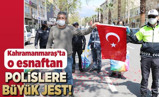 Kahramanmaraş'ta o esnaftan polislere büyük jest!