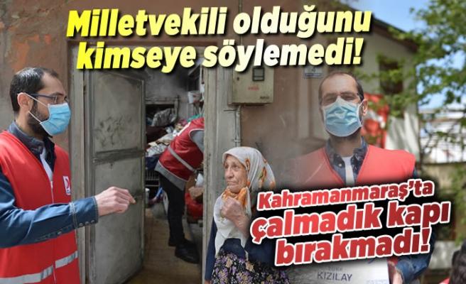 Kahramanmaraş'ta o milletvekili kızılay gönüllüsü oldu!