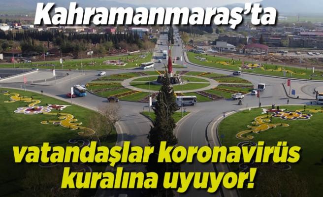 Kahramanmaraş'ta vatandaşlar koronavirüs kuralına uyuyor!