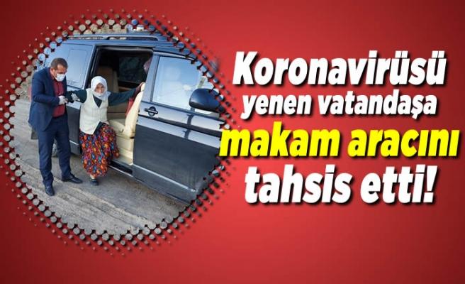 Koronavirüsü yenen yaşlı kadına makam aracını tahsis etti!
