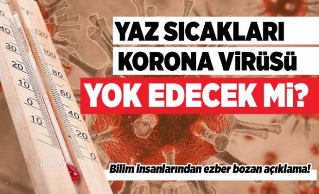 Yaz sıcakları korona virüsü yok edecek mi?