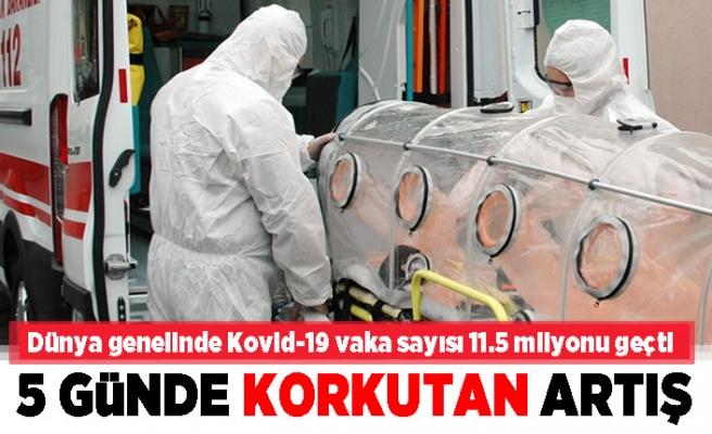 Dünya genelinde korona virüs vaka sayısı... 5 Günde korkutan artış!