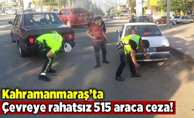 Kahramanmaraş'ta çevreyi rahatsız eden 515 araca ceza!