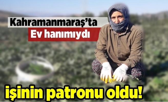 Kahramanmaraş'ta ev hanımıydı işinin patronu oldu!