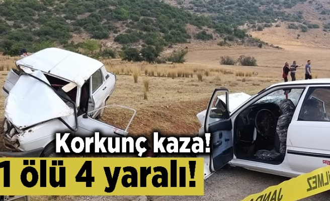 Korkunç kaza! 1 ölü 4 yaralı!