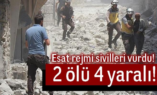 Esad rejimi sivilleri vurdu! 2 ölü 4 yaralı!