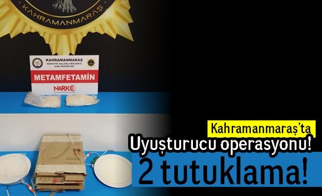 Kahramanmaraş'ta uyuşturucu operasyonu! 2 tutuklama!