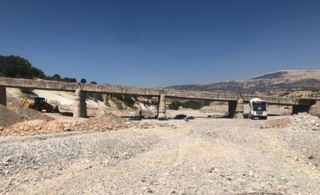 Geçgeç Köprüsü Bakıma alındı