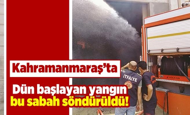 Kahramanmaraş'ta dün başlayan yangın bu sabaha söndürüldü!
