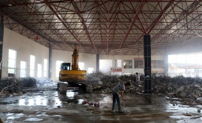 Otogarda yenileme çalışması devam ediyor